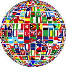 international flags globe world